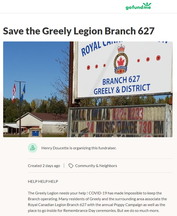 Save the Greely Legion